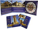 Cyprus euro coins in a three-ply brochure